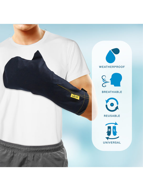 The features of the outcast outdoor arm weather protector