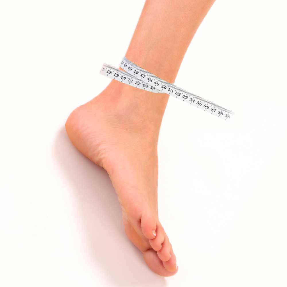 Measuring guide for an Adult Foot LimbO Waterproof Protector