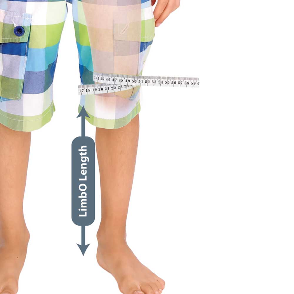 Measuring guide for a Child's Half Leg LimbO Waterproof Protector
