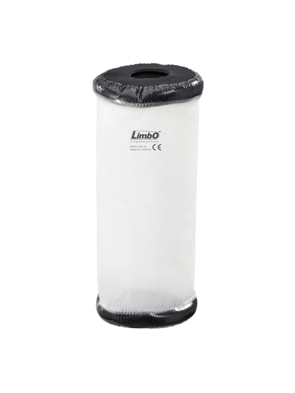 A product shot of an adult elbow LimbO Waterproof Protector, not being worn but on its own