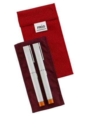 An image of a FRIO Insulin Cooling Wallet with 2 Insulin Pens